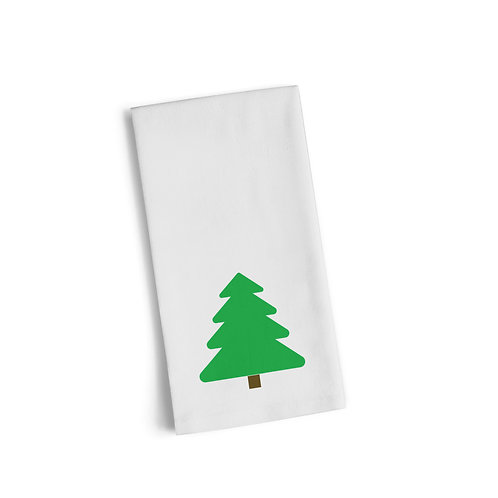 Green Christmas Tree 3 Flour Towel