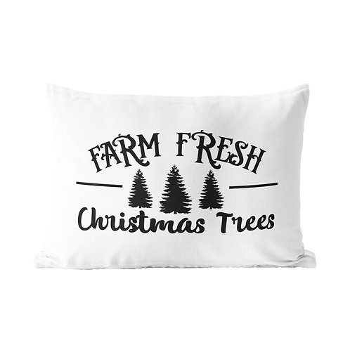 Farm Fresh Christmas Tree Queen Pillow Case