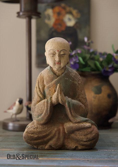 Houten Boeddha beeldje