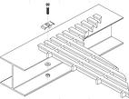 GRADA/ESCALON FGI DE 0.33x3.33 MT,GRIS OSCURO