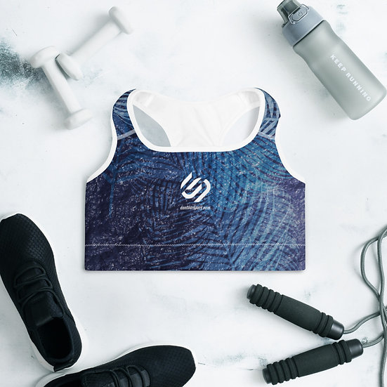 Ocean Blue Padded Sports Bra