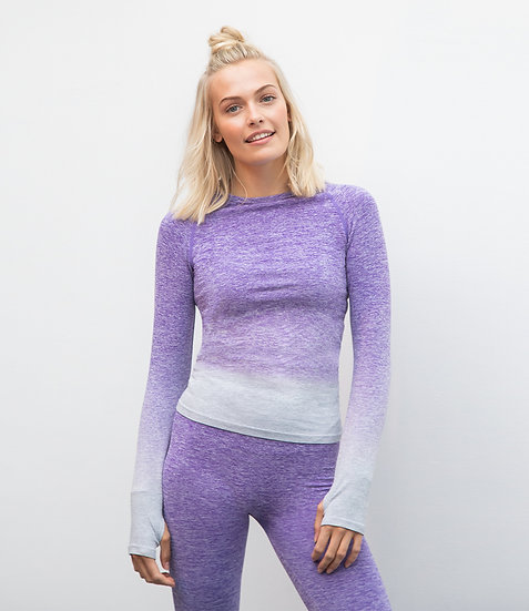 Ladies Seamless Fade Out Long Sleeve Top