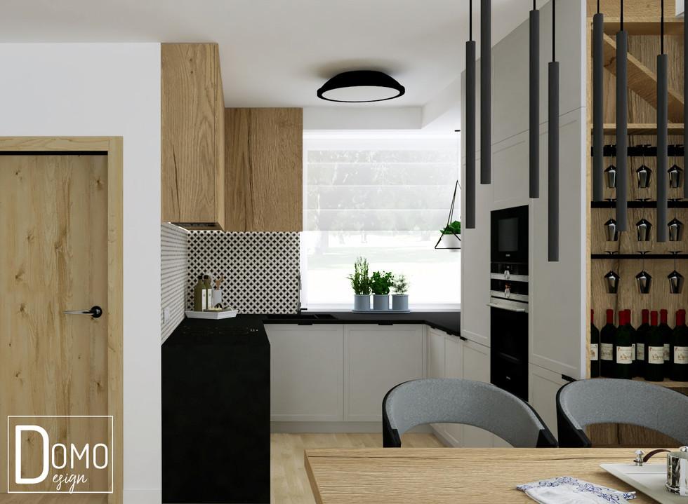 Otwarta kuchnia w domu bliźniaku, Tychy