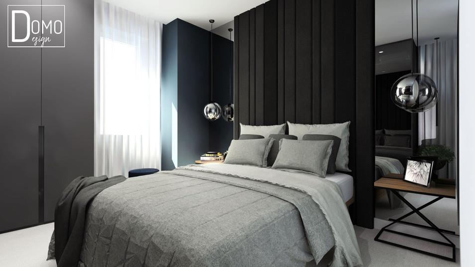 Sypialnia w mieszkaniu, Tychy