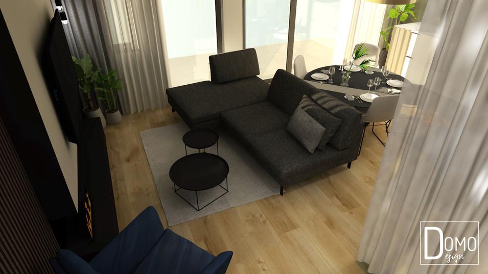 Salon z kuchnią w mieszkaniu, Tychy