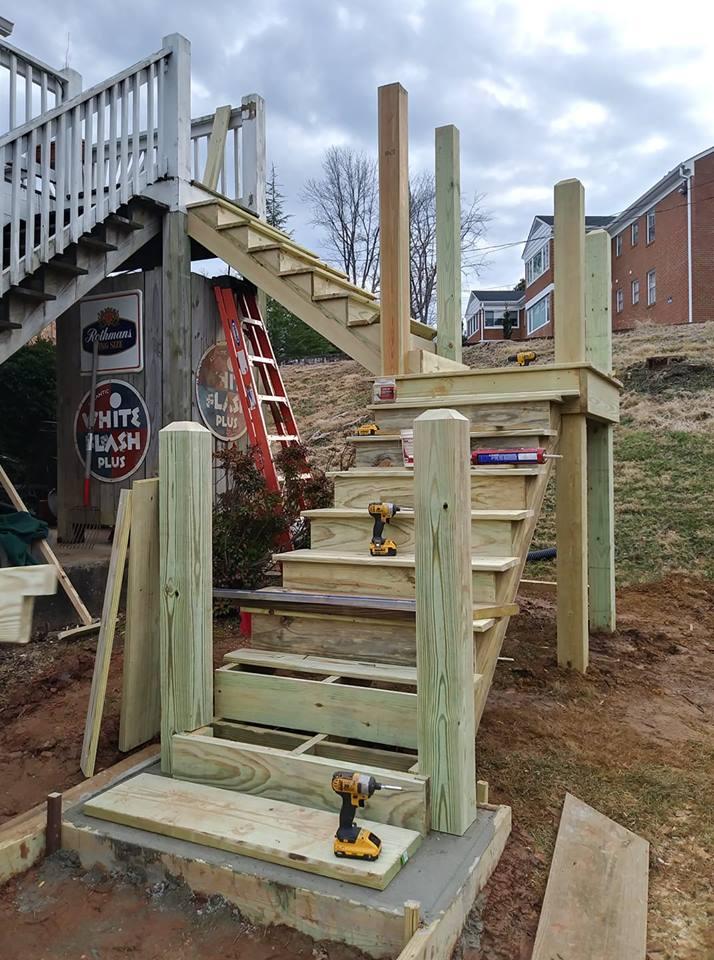 Schenkel deck stair remodel