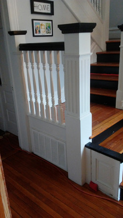 Matching columns and railing section