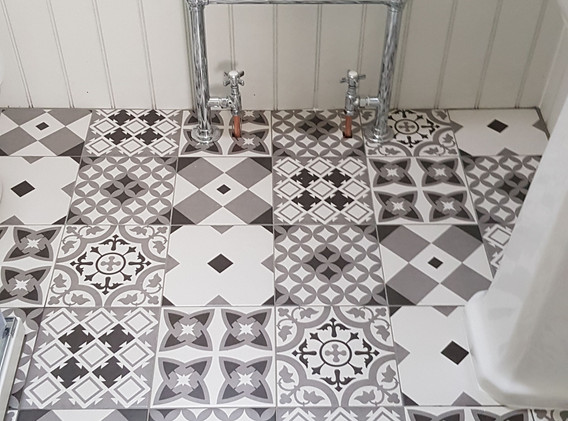 Tiling and flooring and plumbing