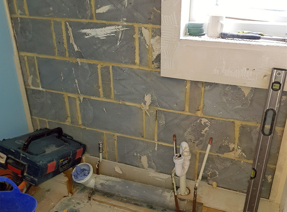 Plumbing and tiling