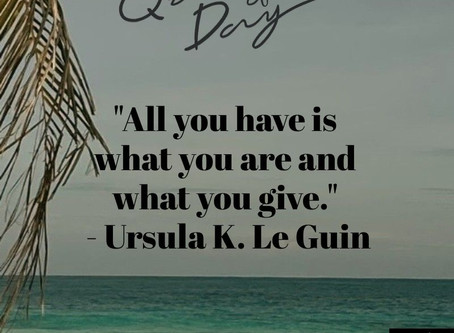 Quote of the Day: On Giving & Purpose