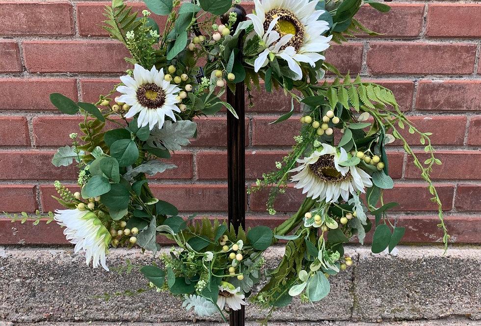 Sunflower Eucalyptus Berry Wreath