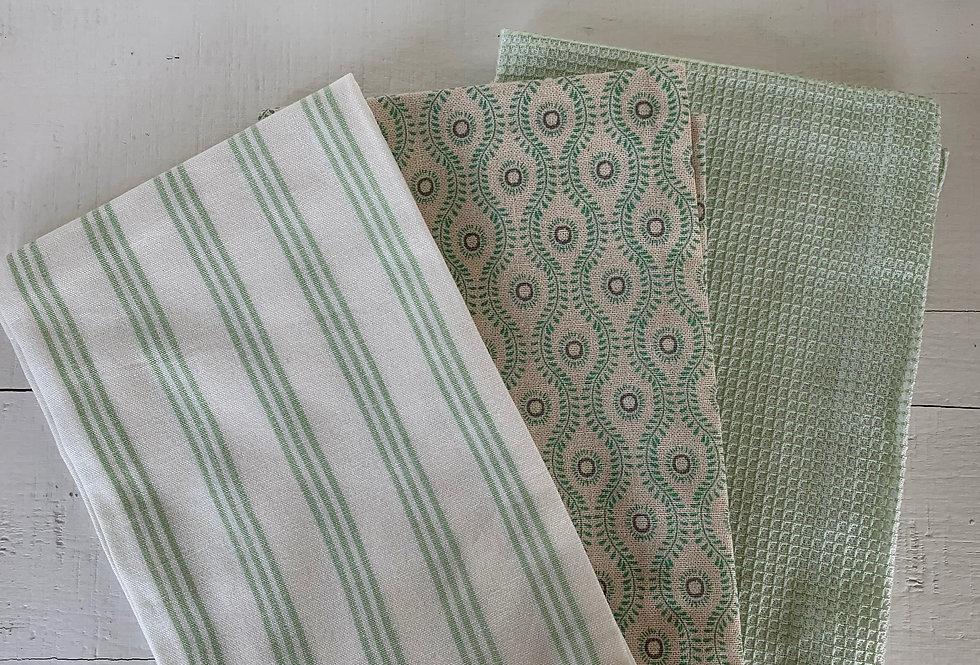 Light Green Kitchen Towel Set
