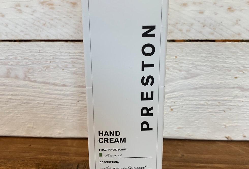 Preston Men's Line - Hand Cream Masai Scent