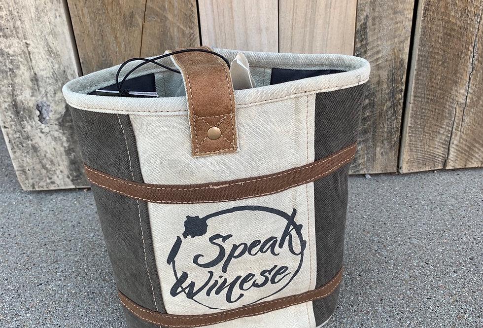 Speak Winese Double Wine Bag