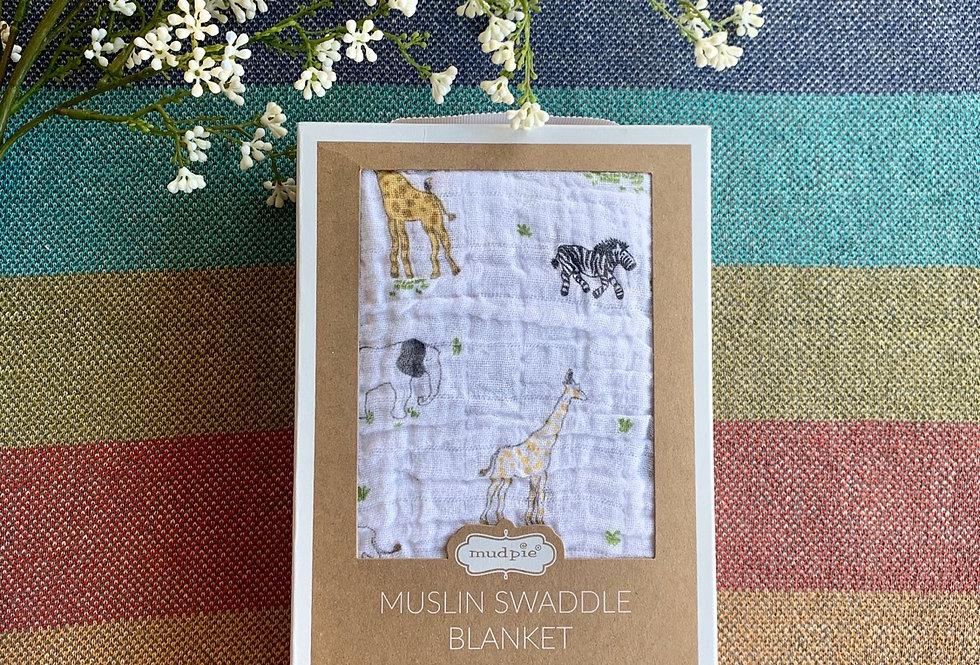 Safari Muslin Swaddle Blanket