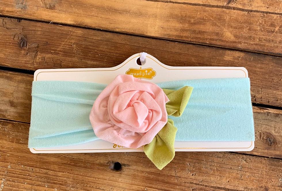 Blue Flower Headwrap