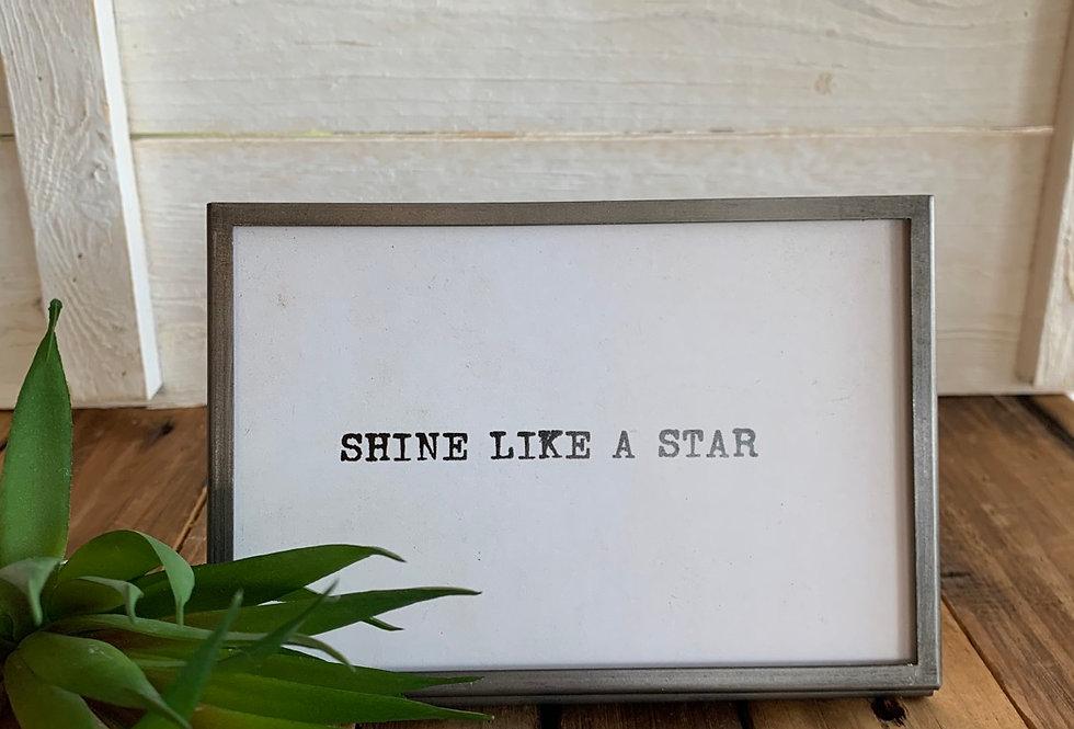 Shine Like a Star Easel