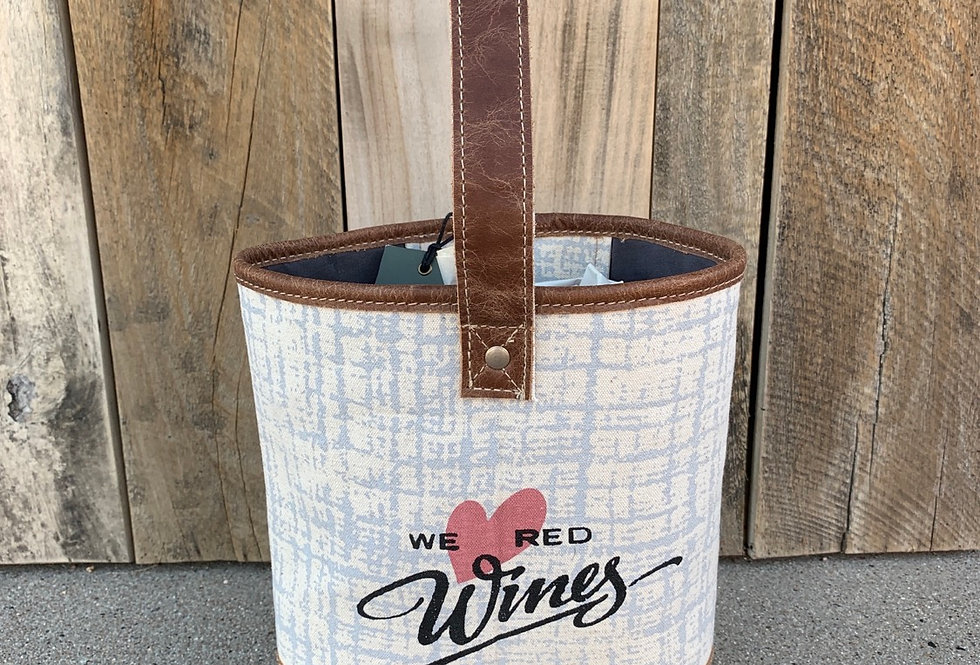We Love Red Double Wine Bag