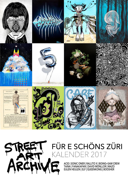 Street Art Kalender 2017