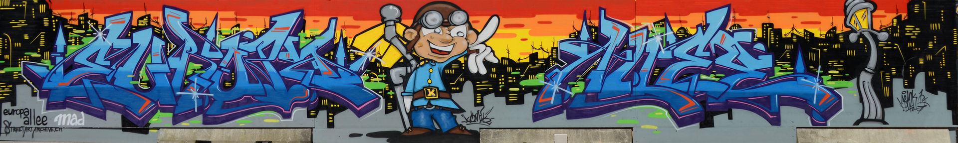 Mr.Bazk One and Komik One  Europaallee   Streetart.Limited