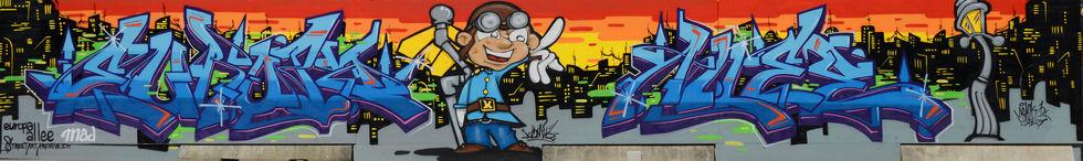 Mr.Bazk One and Komik One| Europaallee | Streetart.Limited