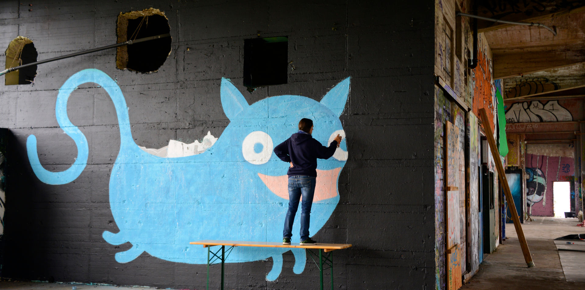 Artist: Taina (CH) | Unser Stilbruchfestival at Berlin Teufelsberg 2017| Powered by Streetart.Limited und Molotow