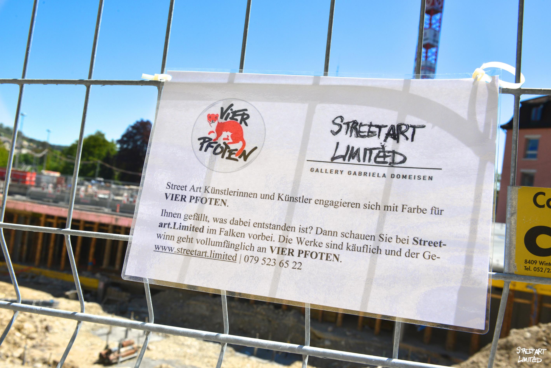 Streetart.Limited | Vier Pfoten