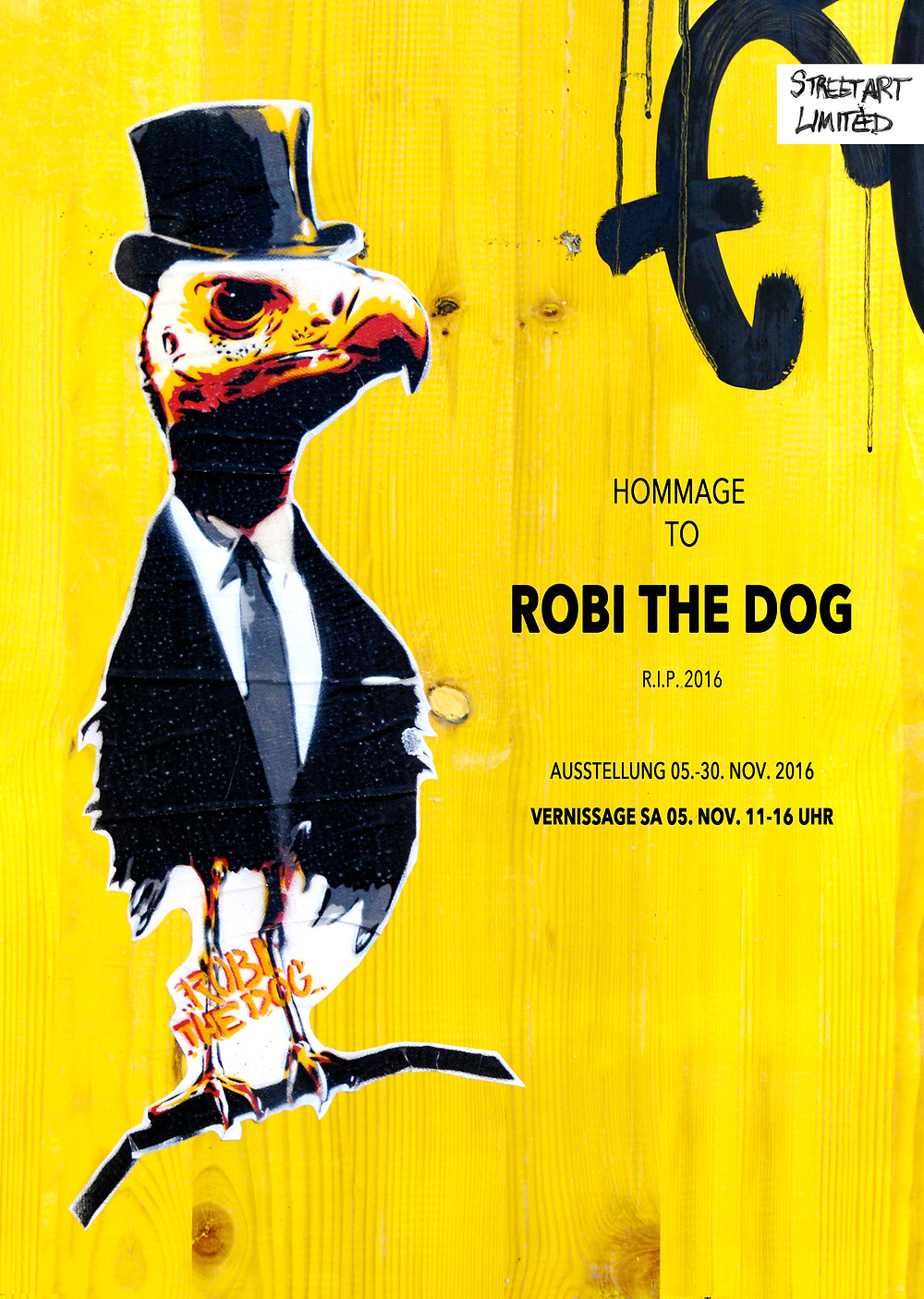 Hommage to Robi the dog at Streetart.Limited