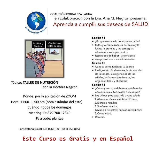 flyer coalición fortaleza latina - 2021