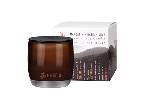 Urban Rituelle Equilibrium Soy Candle - Mandarin, Basil and Lime