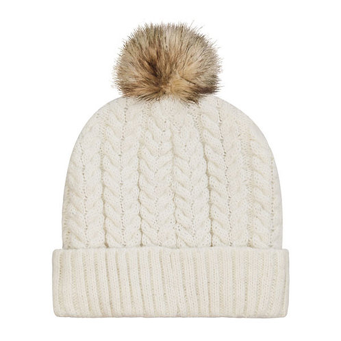 Aroma Home Cable Knit Beanie - Cream