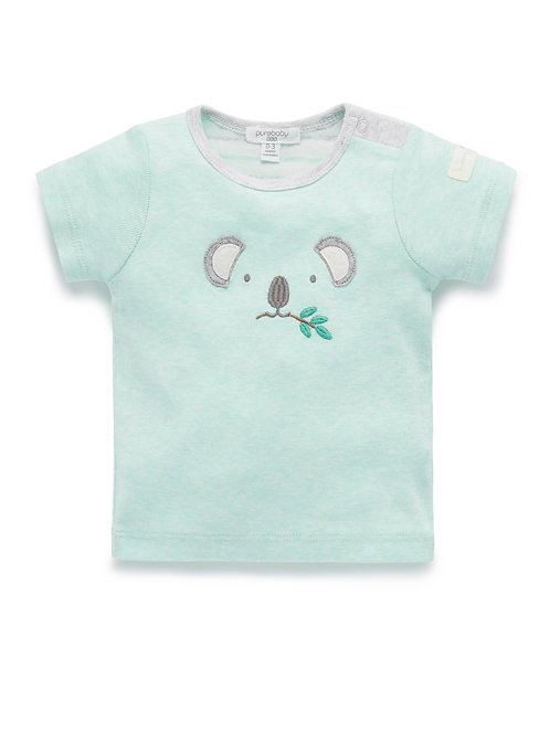 Pure Baby Native Eucalyptus Green T-Shirt - Size 000