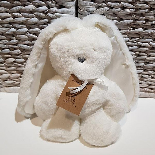 Petite Vous Flat Bunny Comforter - White with White Ears