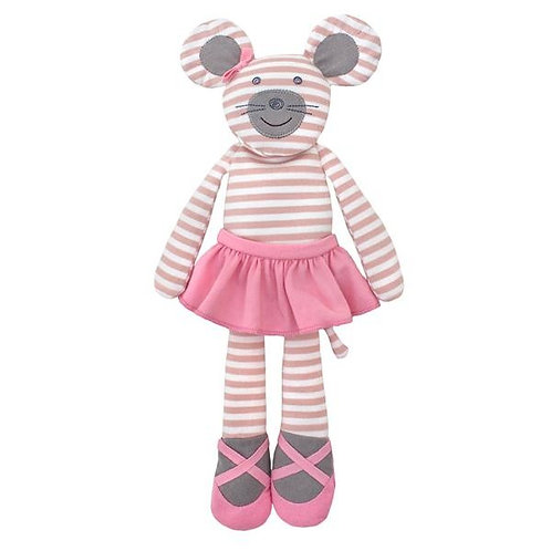 Apple Park Ballerina Mouse Organic Soft Toy