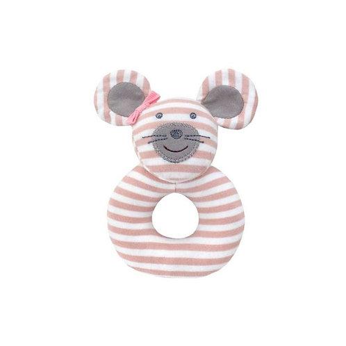 Apple Park Ballerina Mouse Organic Rattle