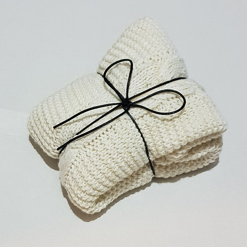 Aroma Home Heat Pillow - Cream Cable Knit