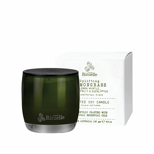 Urban Rituelle Flourish Soy Candle Lemongrass, Grapefruit & Eucalyptus