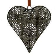 Grosse Girlande mit Herz aus Metall
