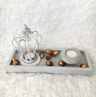 Dekorative Platte quadratisch