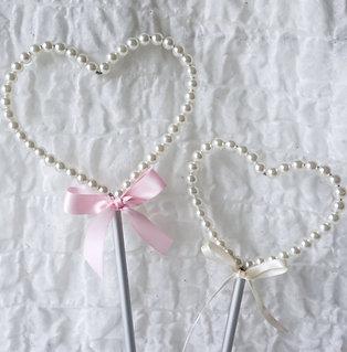 Stabherz aus Perlen klein