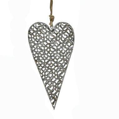 Mittelgrosse Girlande mit Herz aus Metall (Netz)