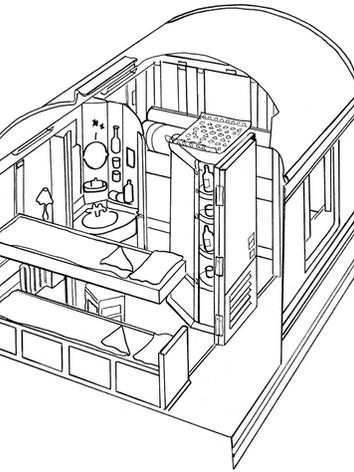 Cabine Suite plan