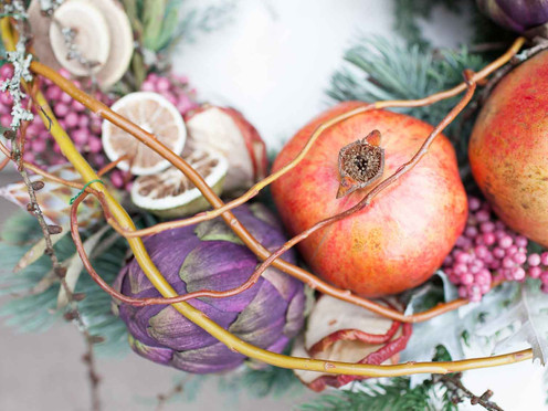 Christmas at Moonflower - festive wreaths and home decoration