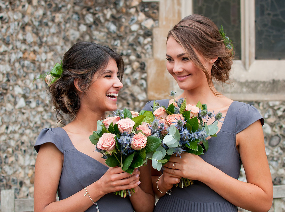 Bridesmaid Flowers for a Wedding at Parkside School,  Cobham by Moonflower Florist Cobham