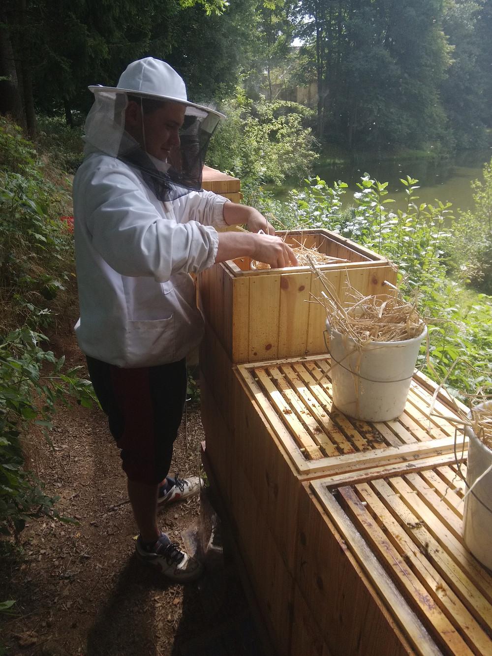 Kýble na zakrmení včel