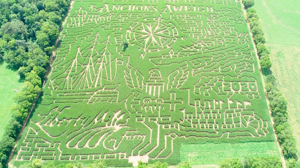 2020 Anchors Aweigh Corn Maze Aerial