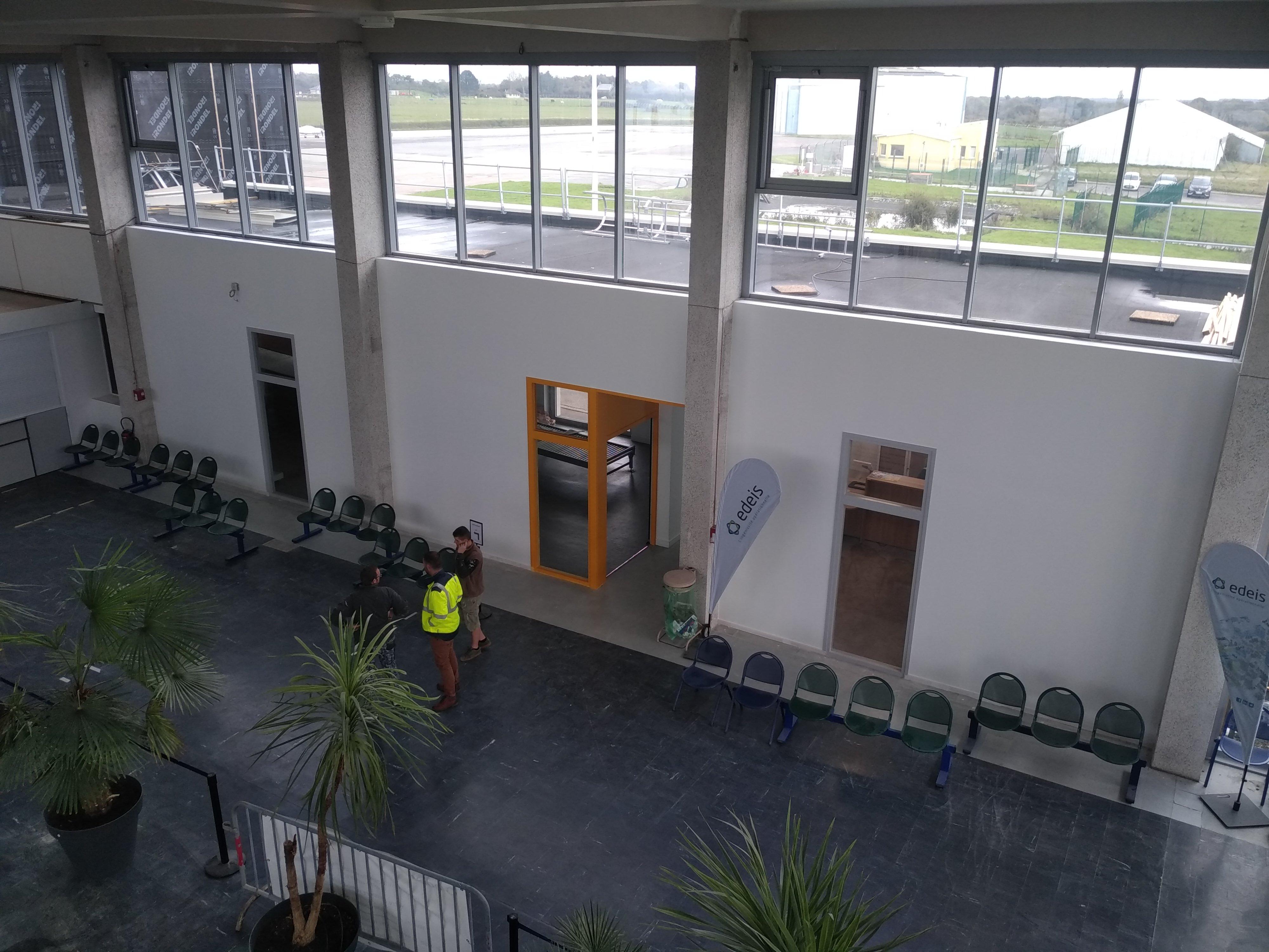 Rénovation du hall de l'aérogare
