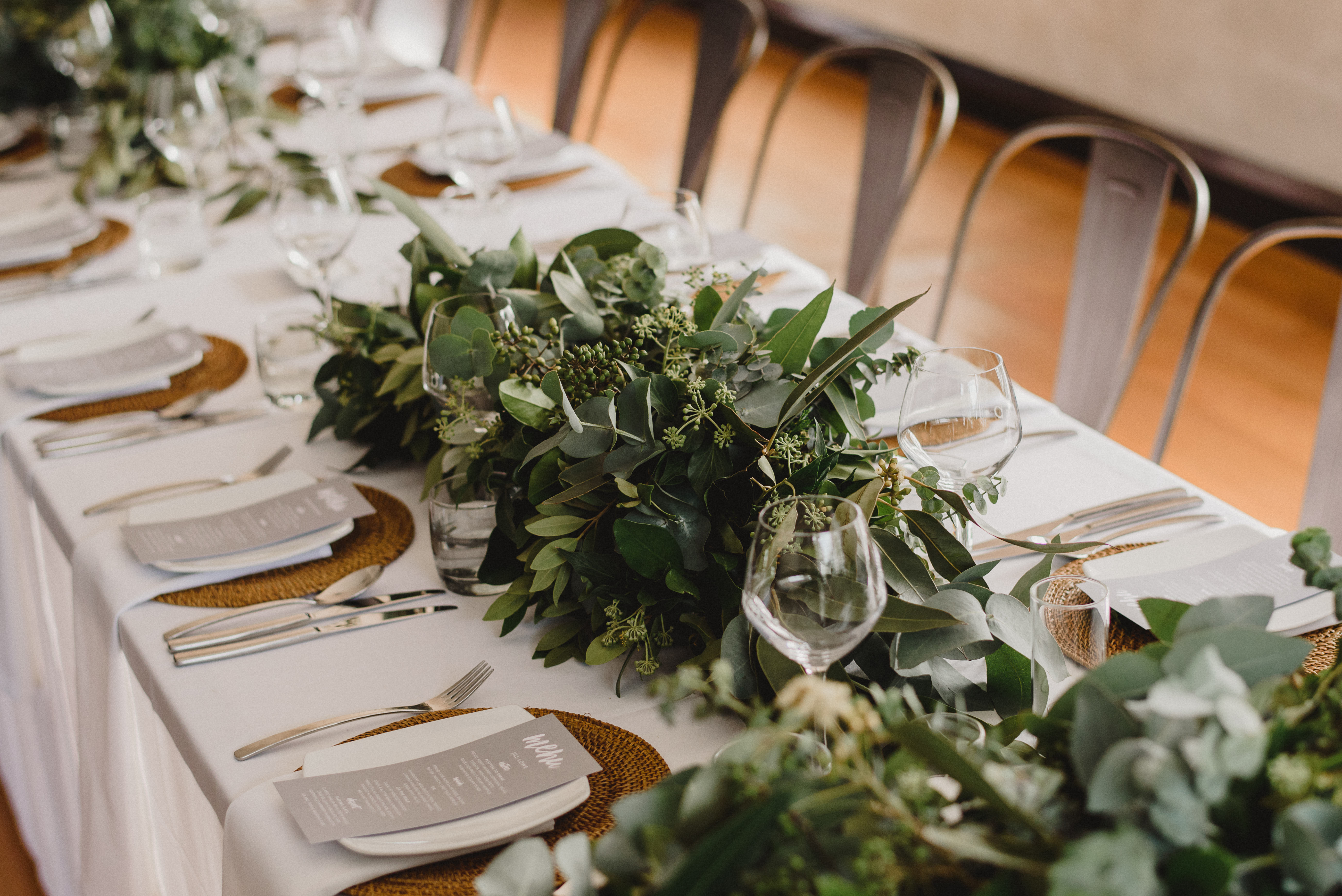 foliage tablescape