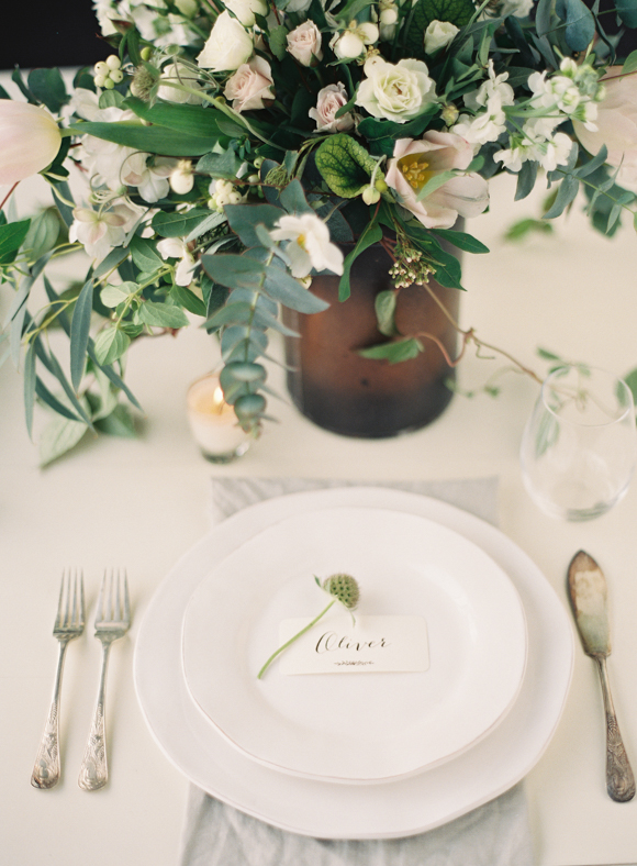 wedding table styling