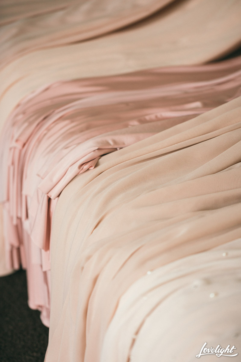 Blush wedding tones